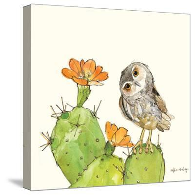 Prickly Pear and Elf Owl-Robbin Rawlings-Stretched Canvas Print