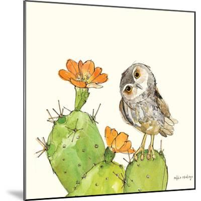 Prickly Pear and Elf Owl-Robbin Rawlings-Mounted Art Print
