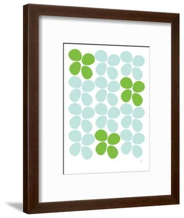 Green Flowers-Avalisa-Framed Art Print
