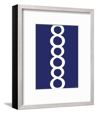 Navy Figure 8 Design-Avalisa-Framed Art Print