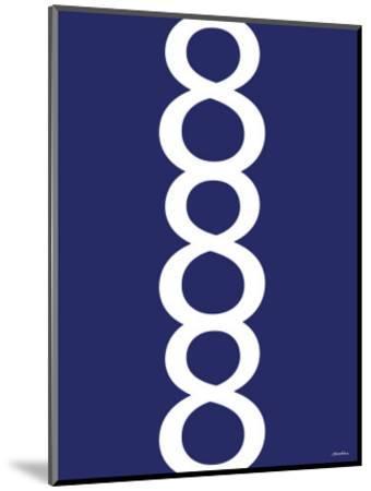 Navy Figure 8 Design-Avalisa-Mounted Art Print