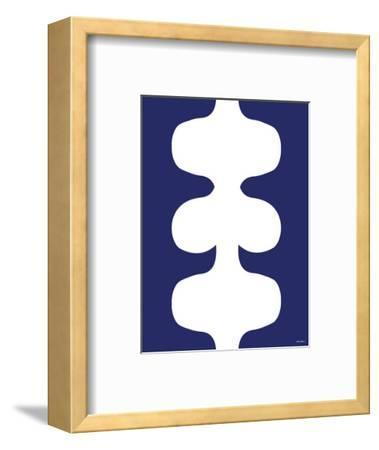 Navy Design Negative, no. 115-Avalisa-Framed Art Print