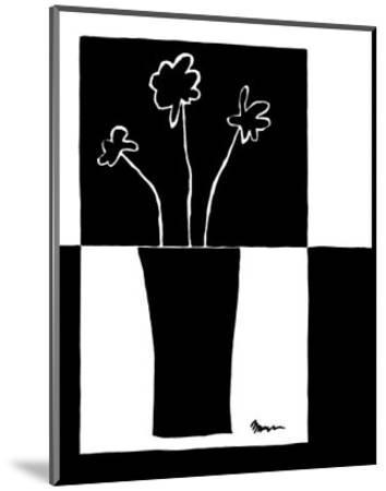Minimalist Flower in Vase II-Jennifer Goldberger-Mounted Art Print