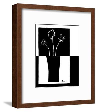 Minimalist Flower in Vase II-Jennifer Goldberger-Framed Art Print