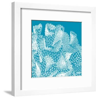 Saturated Coral IV-Vision Studio-Framed Art Print