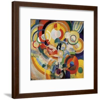 Carousel with Pigs-Robert Delaunay-Framed Art Print