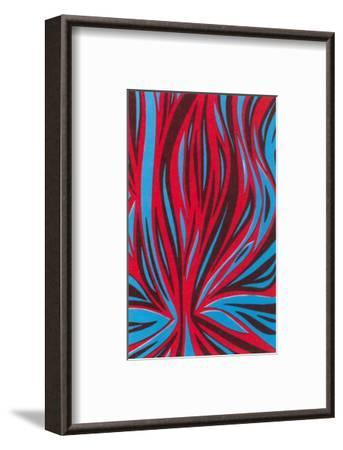 Psychedelic Pattern of Red and Blue--Framed Art Print