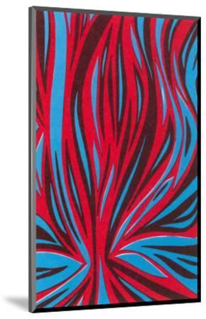 Psychedelic Pattern of Red and Blue--Mounted Art Print