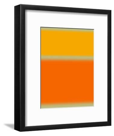 Abstract Orange and Yellow-NaxArt-Framed Art Print