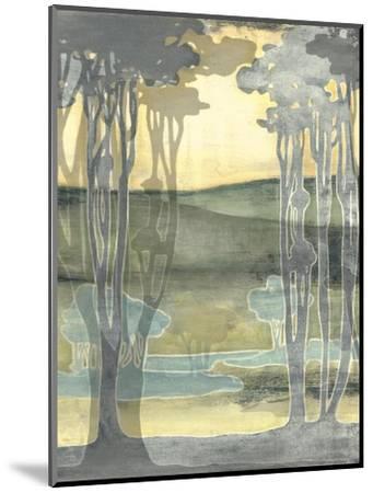 Small Nouveau Landscape I-Jennifer Goldberger-Mounted Art Print