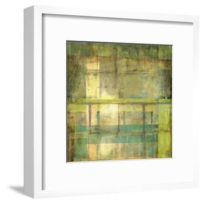 Non-Embellish Guilded Turquoise I-Jennifer Goldberger-Framed Art Print