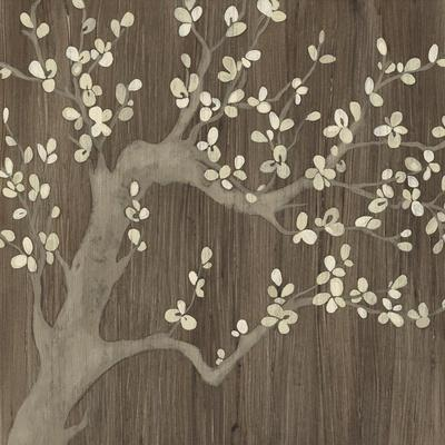 Driftwood Cherry I-June Vess-Stretched Canvas Print