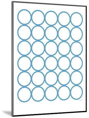 Blue Circles-Avalisa-Mounted Art Print