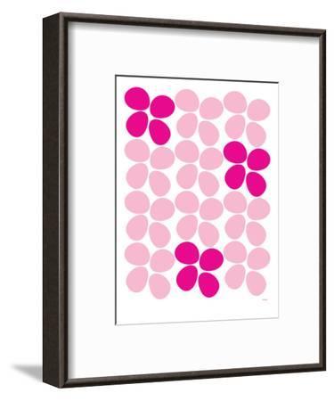 Pink Flowers-Avalisa-Framed Art Print