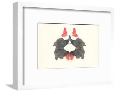 Rorschach Test Pattern--Framed Art Print