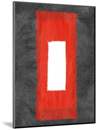 Grey and Red Abstract 4-NaxArt-Mounted Art Print