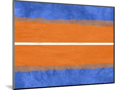 Blue and Orange Abstract Theme 4-NaxArt-Mounted Art Print