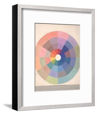 Rudolph Schaeffer, Color Wheel; Archive of American Art--Framed Art Print