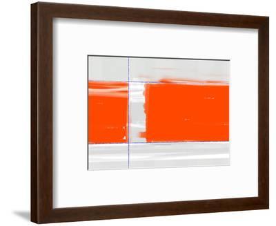 Orange Rectangle-NaxArt-Framed Art Print