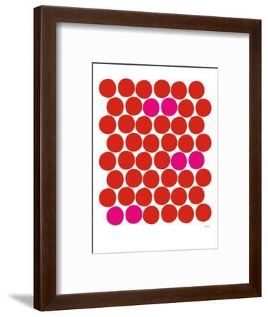 Red Pink Dots-Avalisa-Framed Art Print