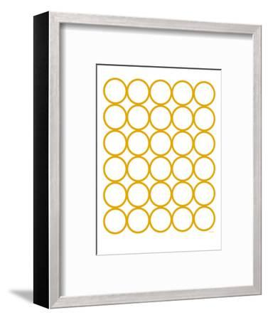 Yellow Circles-Avalisa-Framed Art Print