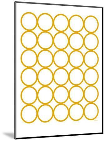 Yellow Circles-Avalisa-Mounted Art Print