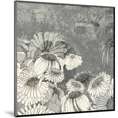 Flowers on Grey II-Ingrid Blixt-Mounted Art Print