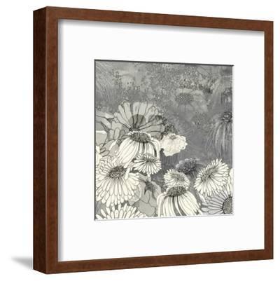 Flowers on Grey II-Ingrid Blixt-Framed Art Print