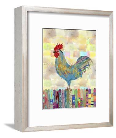 Rooster on a Fence II-Ingrid Blixt-Framed Art Print