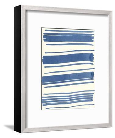 Macrame Blue III-Vanna Lam-Framed Art Print