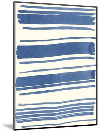 Macrame Blue III-Vanna Lam-Mounted Art Print