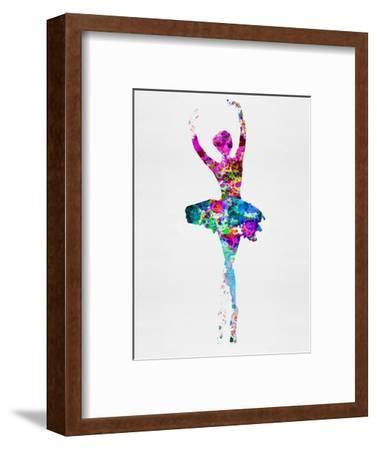 Ballerina Watercolor 1-Irina March-Framed Art Print