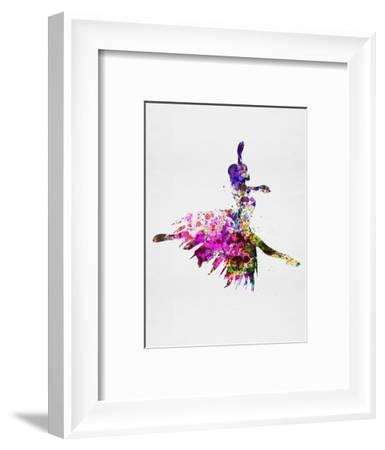 Ballerina on Stage Watercolor 4-Irina March-Framed Art Print