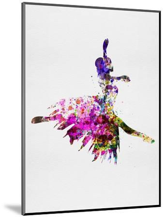 Ballerina on Stage Watercolor 4-Irina March-Mounted Art Print