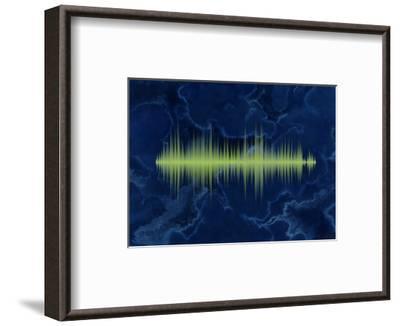 Waveform On The Sea Themed Background-Swill Klitch-Framed Art Print