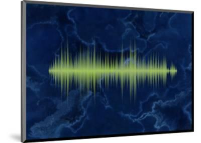 Waveform On The Sea Themed Background-Swill Klitch-Mounted Art Print