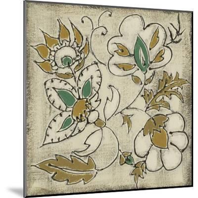 Earthenware Floral IV-Chariklia Zarris-Mounted Art Print