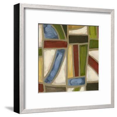 Stained Glass Abstraction IV-Karen Deans-Framed Art Print