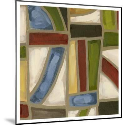 Stained Glass Abstraction IV-Karen Deans-Mounted Art Print