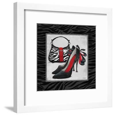 Zebra Fashion II-Todd Williams-Framed Art Print