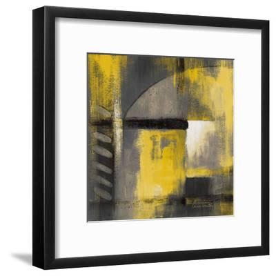 Grey and Yellow Soiree I-Lanie Loreth-Framed Art Print
