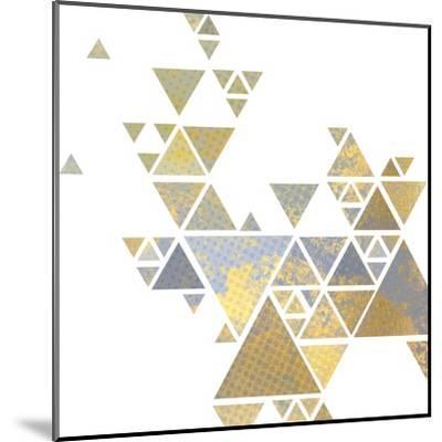 Triangle Gold 2-Kimberly Allen-Mounted Art Print