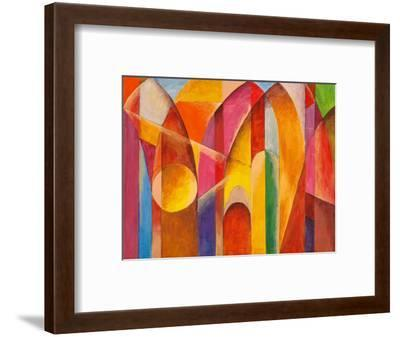 An Abstract Painting, Suggestive of Architecture-clivewa-Framed Art Print
