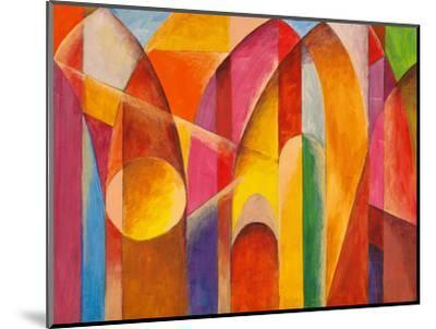 An Abstract Painting, Suggestive of Architecture-clivewa-Mounted Art Print