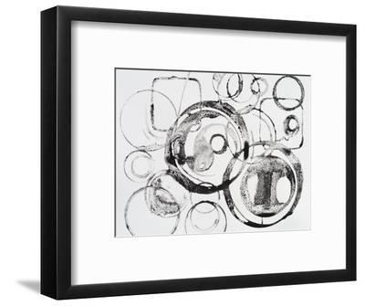 A Grainy Pattern of Stamped and Painted Rings-clivewa-Framed Art Print
