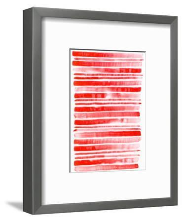 Set of Red Watercolor Brush Strokes-fify-Framed Art Print
