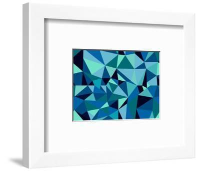 Abstract Geometric Pattern-cienpies-Framed Art Print