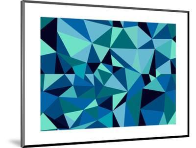 Abstract Geometric Pattern-cienpies-Mounted Art Print