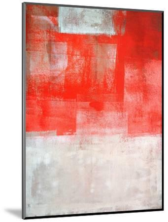 Beige And Coral Abstract Art Painting-T30Gallery-Mounted Art Print