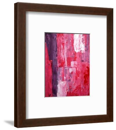 Pink And Purple Abstract Art Painting-T30Gallery-Framed Art Print